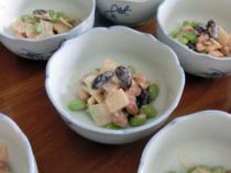 お豆の和風サラダ