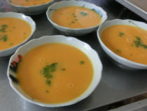 かぼちゃのみそスープ